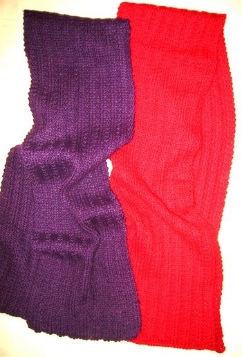 Two Ribbed Scarves in Baby Alpaca