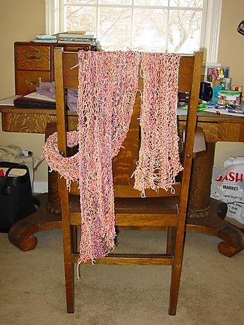 Knitting Basket Scarf