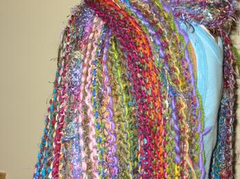 Close-up of the MultiYarn Scarf