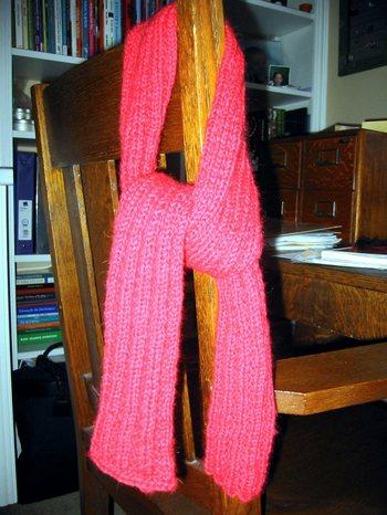 Really_deep_red_alpaca_ribbed_scarf